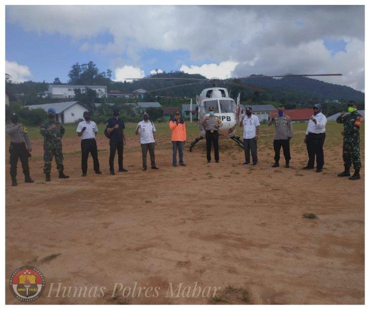 Gunkan Helikopter, Kapolres Mabar Tinjau Posko Tim Gerak Cepat Penanggulangan Covid-19