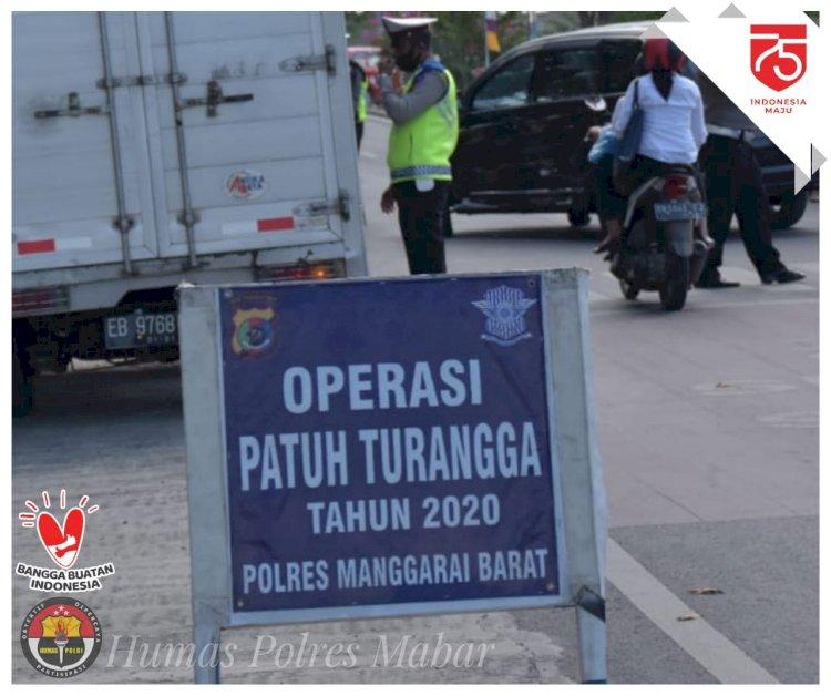 Operasi Patuh Turangga 2020 Berakhir, Satlantas Polres Mabar Tindak 304 Pengendara