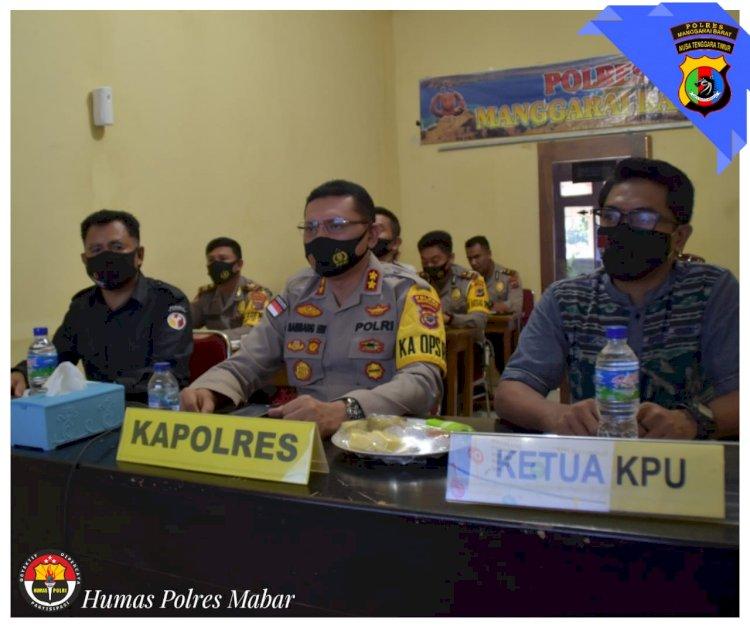 Siap Amankan Pilkada 2020, Polres Manggarai Barat Bersama KPUD Dan Bawaslu Ikuti Vicon Wakapolri