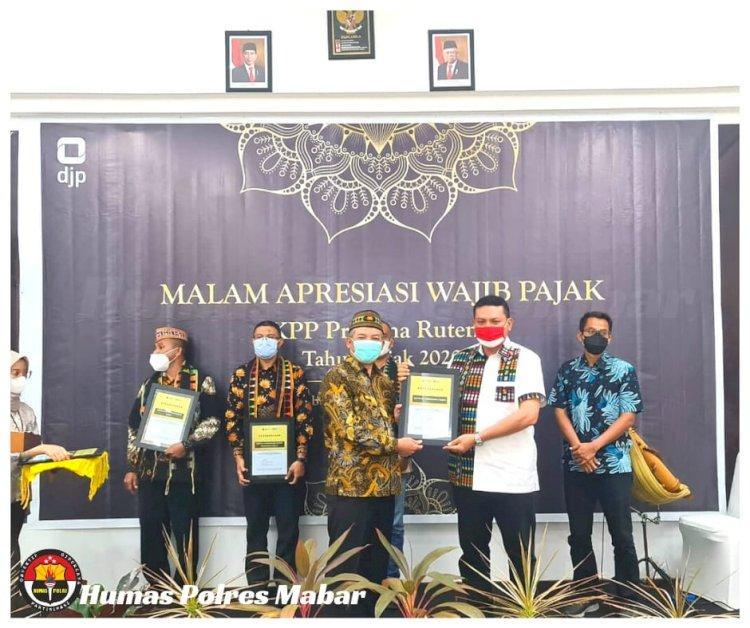 Kapolres Manggarai Barat Terima Apresiasi Pajak, Imbau Jaga Kondusifitas Keamanan dan Investasi