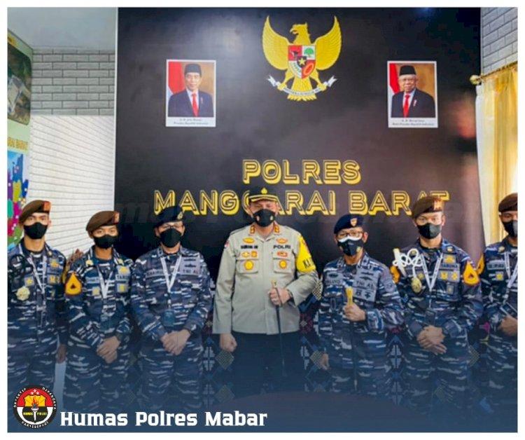Kapolres Manggarai Barat Terima Kunjungan Satgas KJK Taruna AAL Tingkat III Angkatan 68