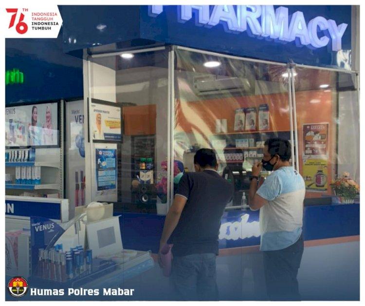 Selama PPKM Level 3, Polres Manggarai Barat Pantau Harga Obat dan Distribusi Obat di Apotik