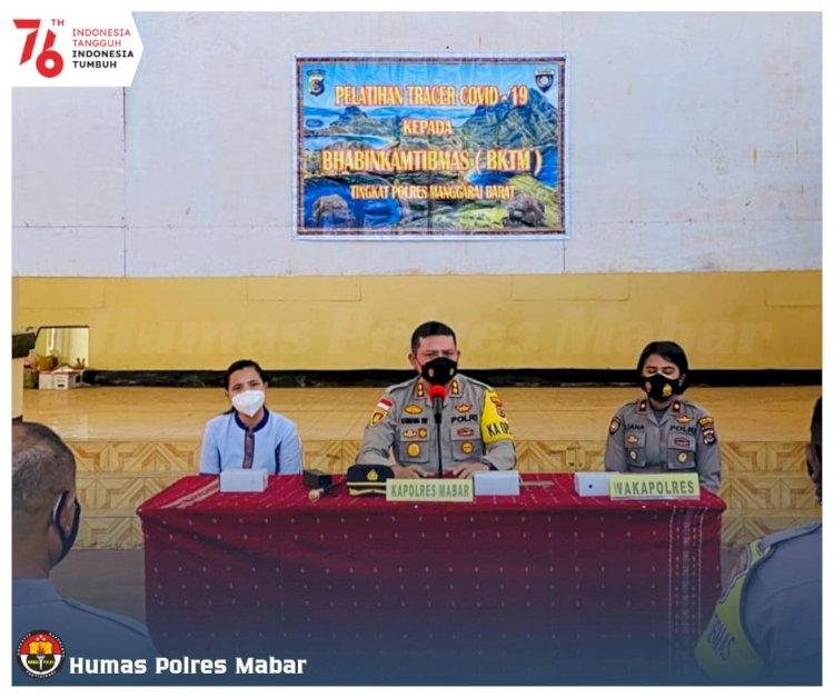 Deteksi Dini Covid-19, Bhabinkamtibmas Polres Manggarai Barat Ikuti Pelatihan 3T