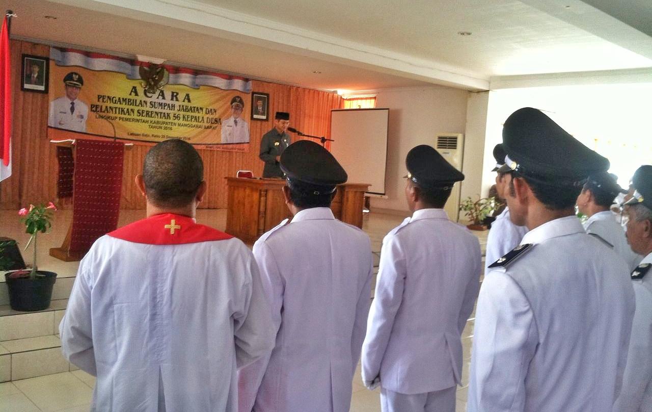 Pelantikan 56 Kepala Desa Serentak, Polres Manggarai Barat Gelar Pengamanan