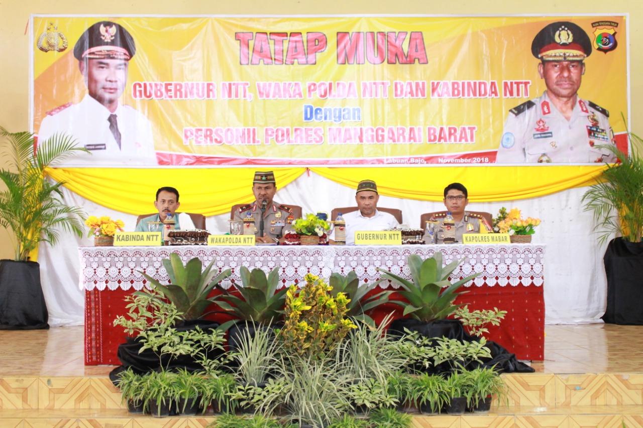 Gubernur, Wakapolda, dan Kabinda NTT Langsungkan Tatap Muka di Mapolres Manggarai Barat
