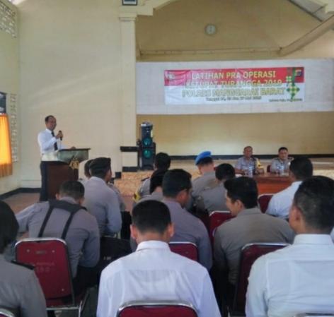 Persiapan PAM Idul Fitri 2019, Polres Mabar Gelar Latihan Pra Operasi