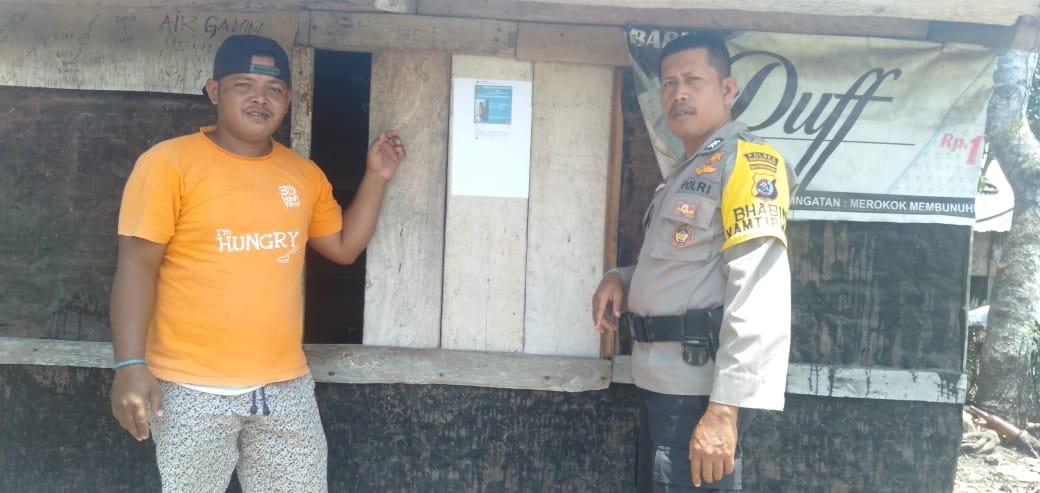 DPO Kasus Judi, Bhabinkamtibmas Desa Pondo Sebar Identitas Pelaku