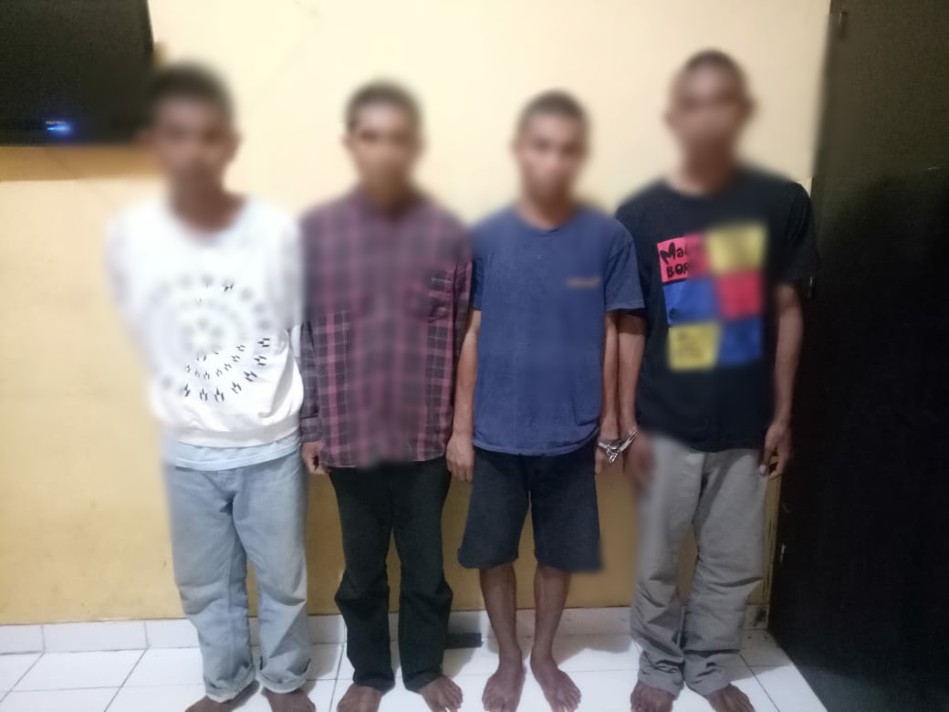 Pencurian Spesialis Handphone, Polres Mabar Ciduk 4 Terduga Pelaku
