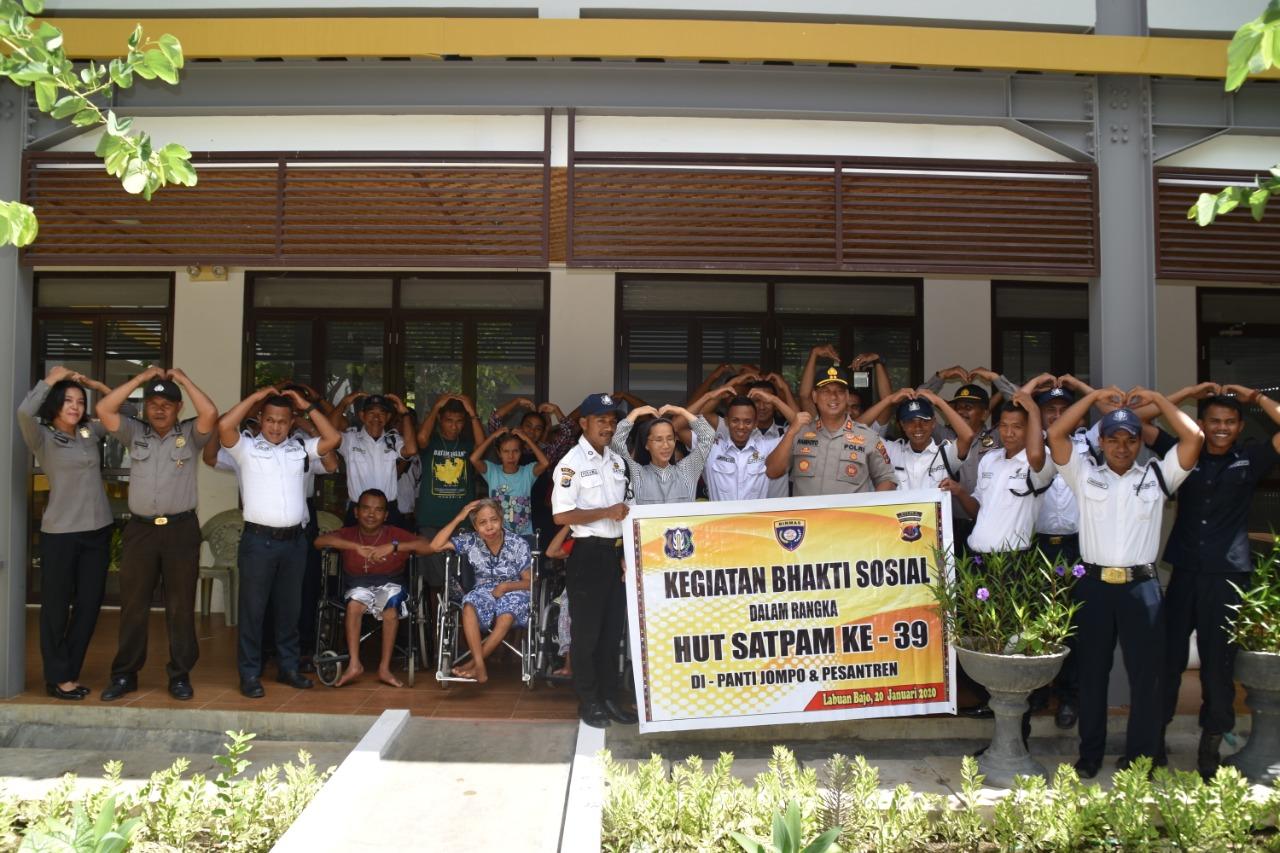 Satuan Binmas Polres Manggarai Barat Bersama Perwakilan Satpam Gelar Anjangsana