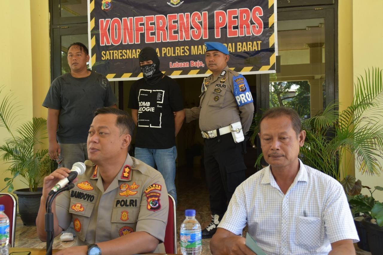 Polres Manggarai Barat Gelar Konferensi Pers Ungkap Kasus Narkotika